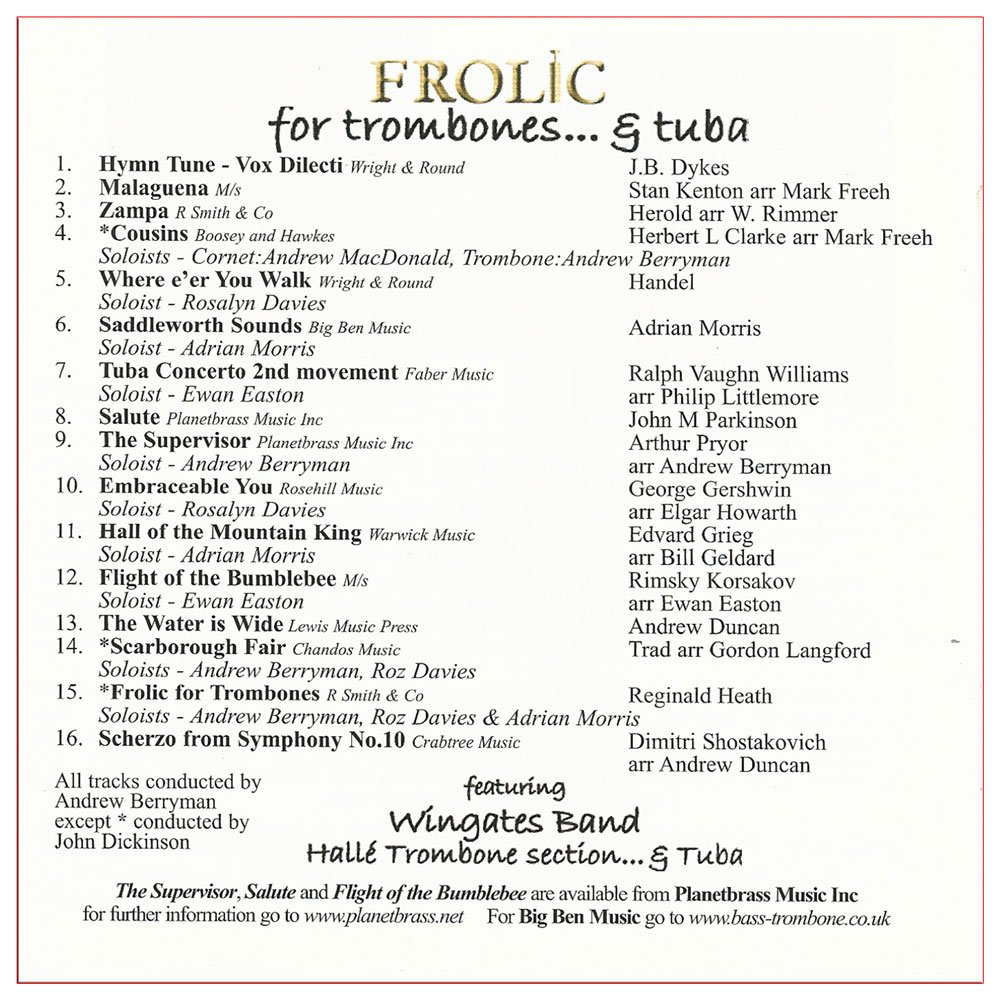 Frolic for Trombones & Tuba