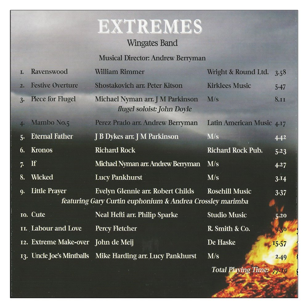 WWingates Band CD Extremes Delivered to your door