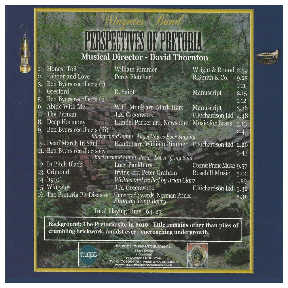 Wingates Band Perspectives of Pretoria CD Posted to you